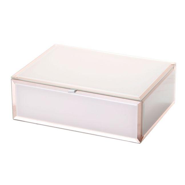 Sara Jewellery Box | Glass | Blush | Medium | One Six Eight London