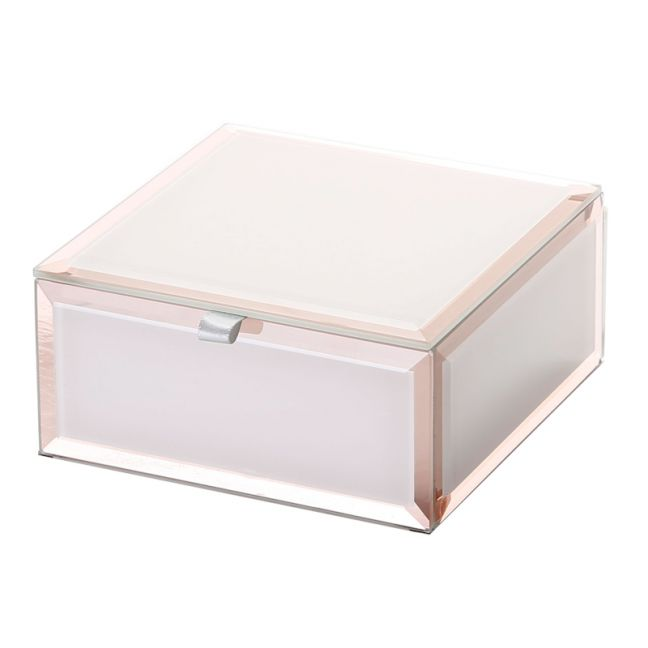 Sara Jewellery Box | Glass | Blush | Small | One Six Eight London