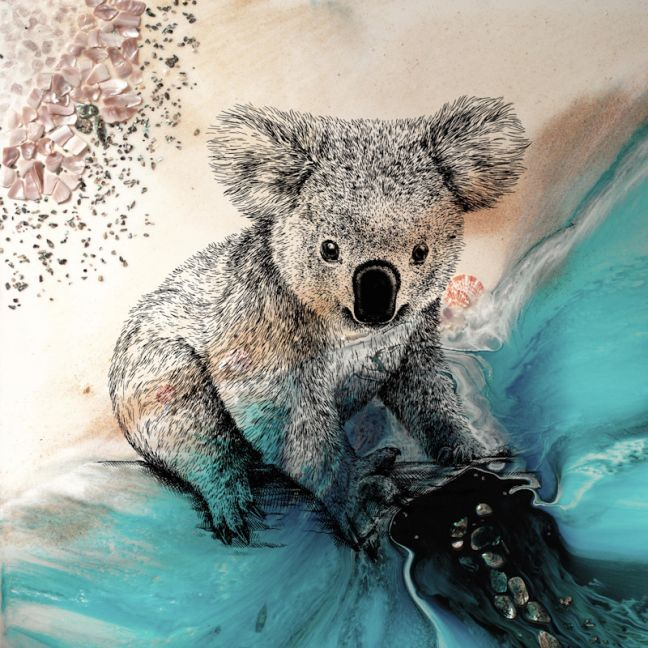 Save Our Koalas | Print to support Koalas conservation program | Antuanelle
