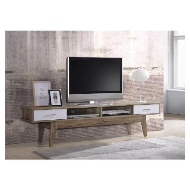 Scandinavian TV Entertainment Unit | 180cm Light Oak