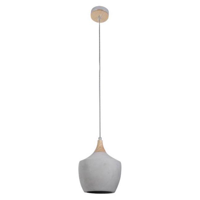 Sculpt 1 Light Drop Pendant in Ash/Concrete | By Beacon Lighting