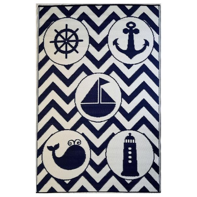 Sea Blue Objects | Indoor Outdoor Kids Rug | Various Sizes