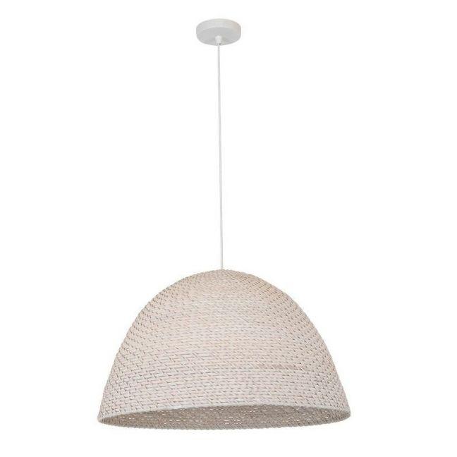Seagrass 1 Light Squat Pendant in White | Beacon Lighting
