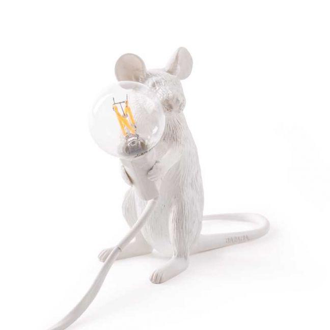 Seletti Mouse Lamp Sitting | White