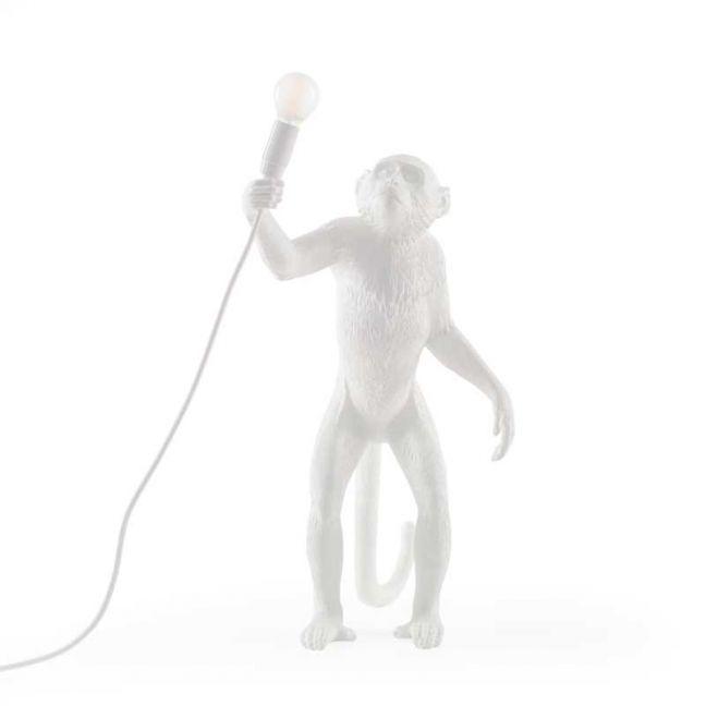 Seletti Standing Monkey Lamp | White