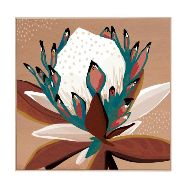 Selima Protea | Natural Box Frame | Front View
