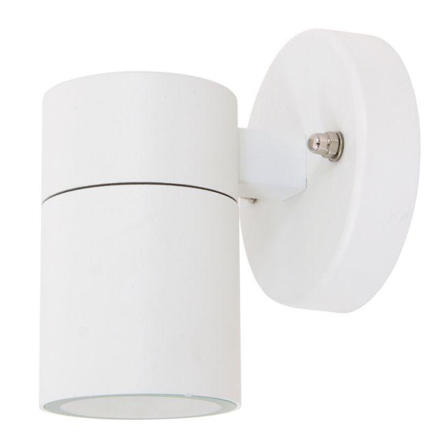 Sentinel 1 Light Exterior Wall Bracket in White | By Beacon Lighting