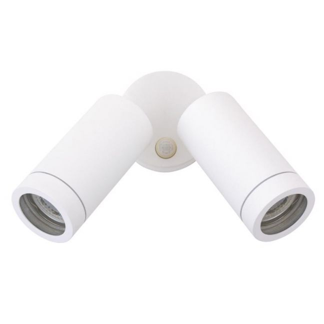 Sentinel 2 Light Exterior Wall Spot With Sensor In White | By Beacon Lighting