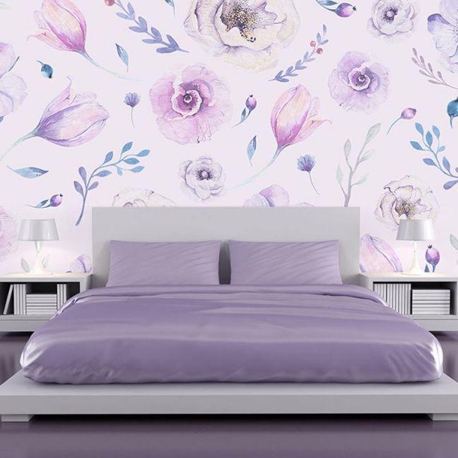Shades of Purple - Full Wall Mural
