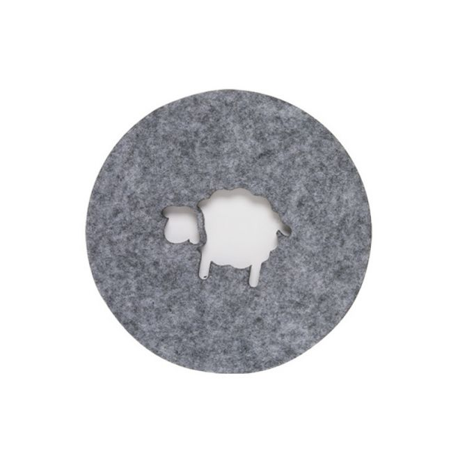 Sheep Grey Felt Coaster | Set of Four | CLU Living