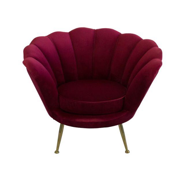 Shell Chair   Velvet   Ruby