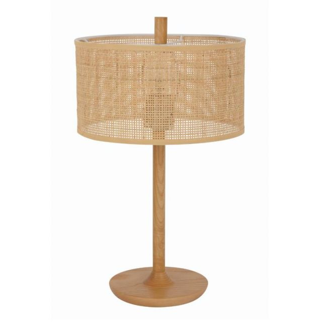 Shore 1 Light Table Lamp in Tan Rattan | By Beacon Lighting