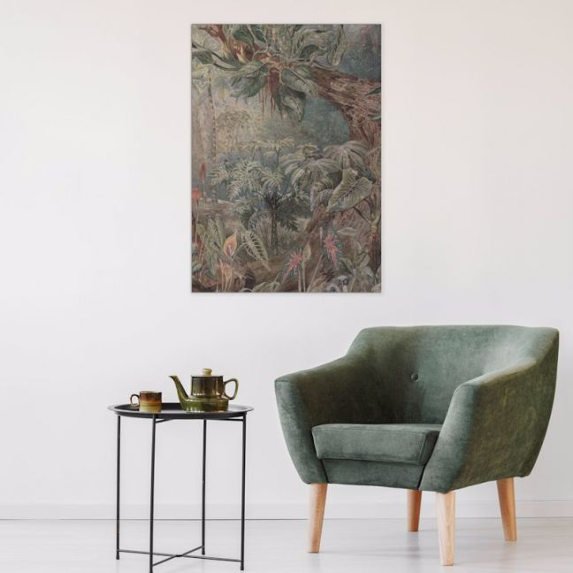 Siamese Jungle - without Fish | Stretched Canvas | Printed Panel