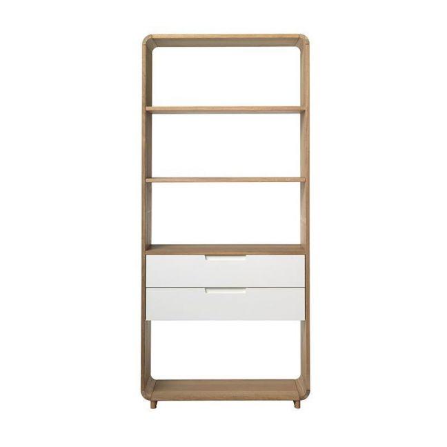 Sienna Display Unit Bookcase   82cm    Natural & White