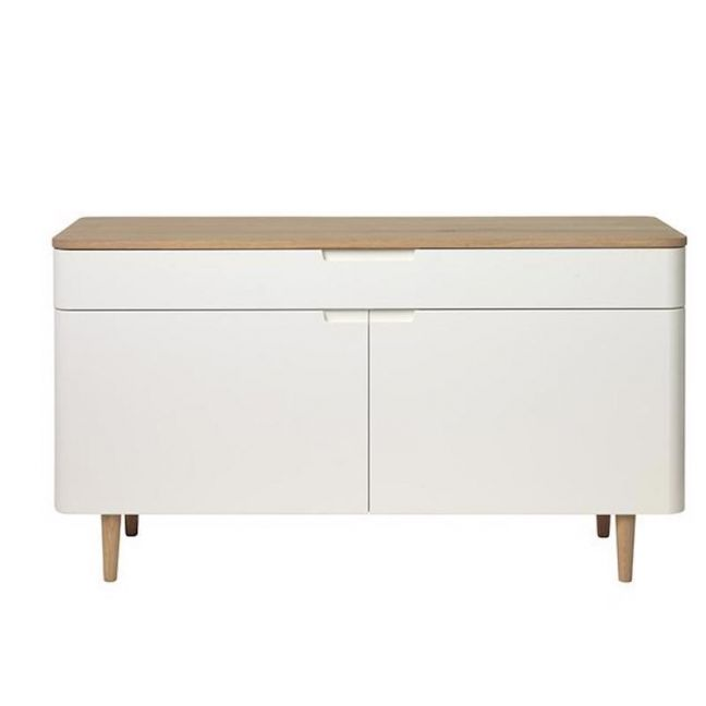 SIENNA Sideboard 140cm -  Natural & White