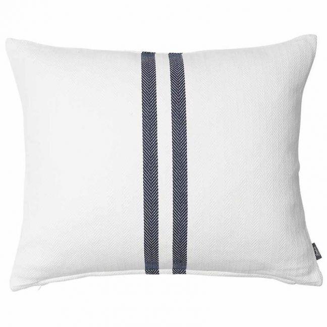 Simpatico Cushion | White/Navy