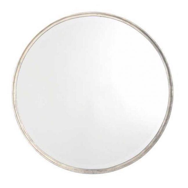 Simplicity Round Mirror | Silver