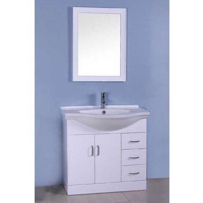 Single White Bathroom Vanity | Modern Furniture