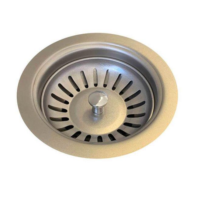 Sink Strainer & Waste Plug Basket With Stopper   PVD Brushed Nickel   Mair