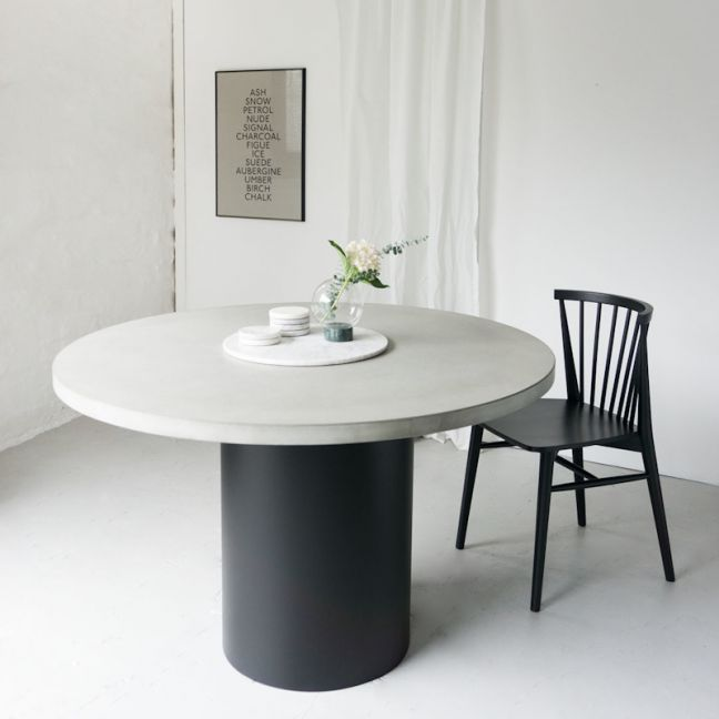 SLABS by Design   Cooper Concrete Round Dining Table