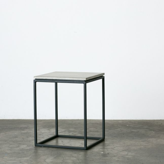 SLABS by Design SoHo Concrete Side Table with Flat Top