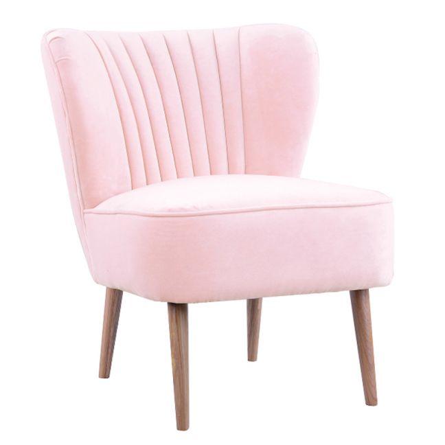 Slipper Chair I Velvet   Baby Pink I Darcy & Duke
