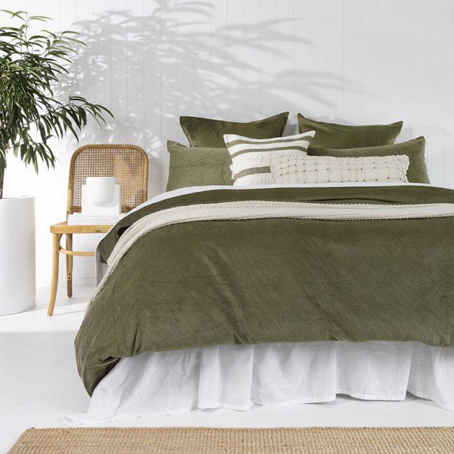 Sloane Quilt Cover Set   Olive