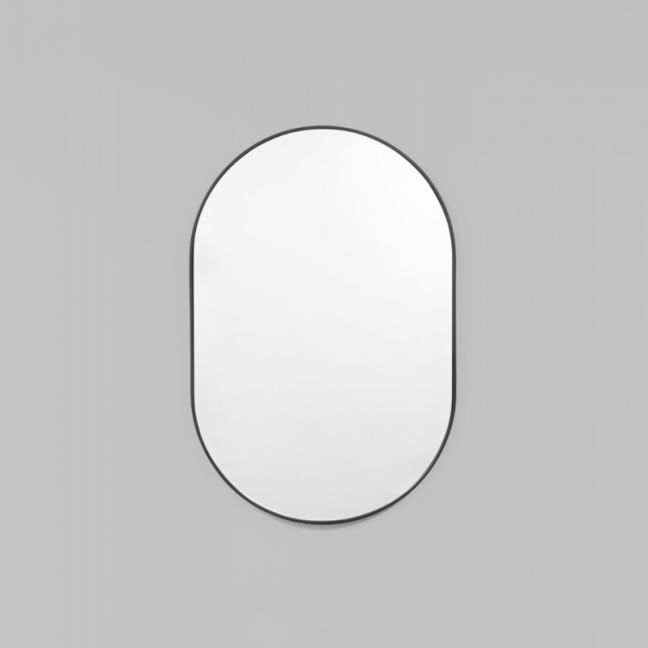Small Bjorn Oval Mirror | Black | Schots