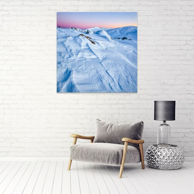 Snow Lines | Canvas Print by Scott Leggo