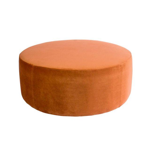 Soho Velvet Ottoman Large | Burnt Orange
