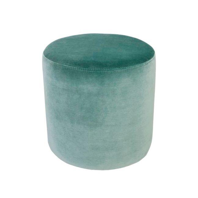 Soho Velvet Ottoman Small | Aqua
