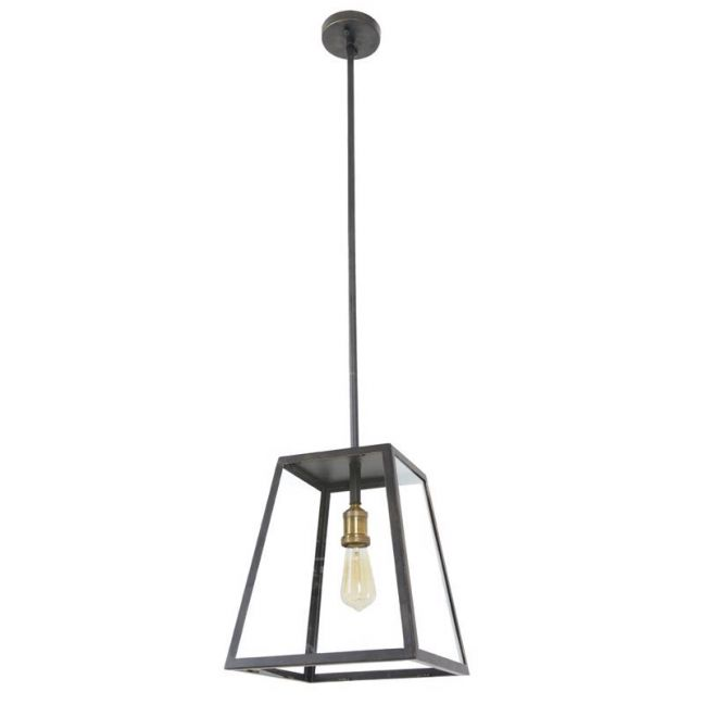 Southampton 1 Light Large Exterior Pendant in Antique Black | By Beacon Lighting
