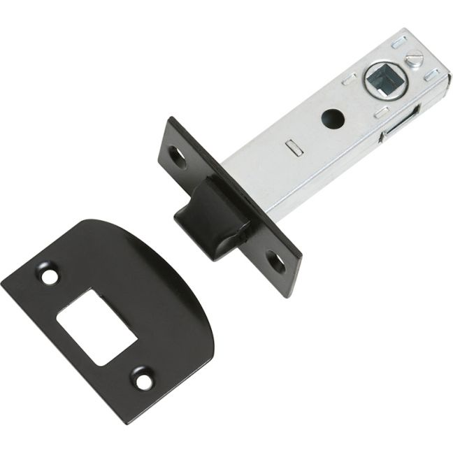 Standard Tube Latch 60mm Backset | Matte Black Powder Coated | Schots