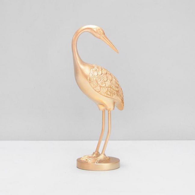Standing Crane | Gold | White Moose