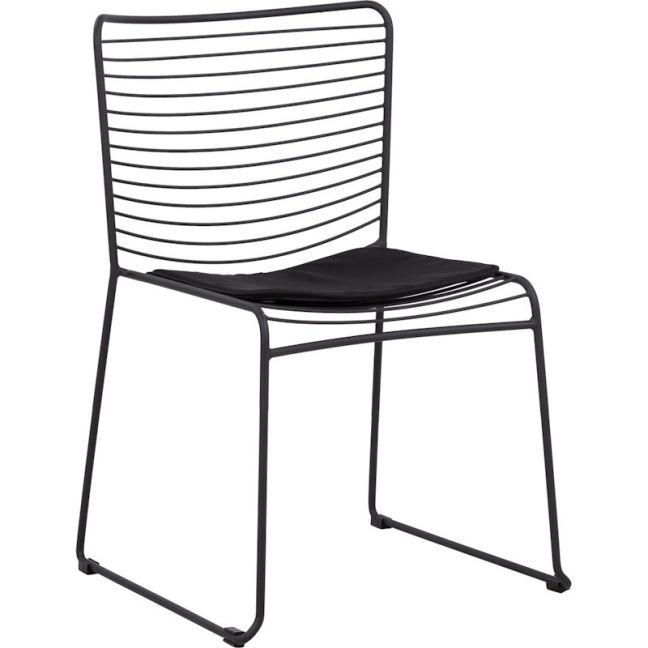 Stella Steel Chair w/ Seat Pad | Black | Schots