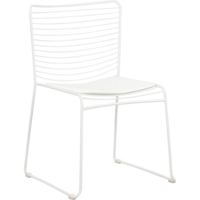 Stella Steel Chair w/ Seat Pad   White   Schots