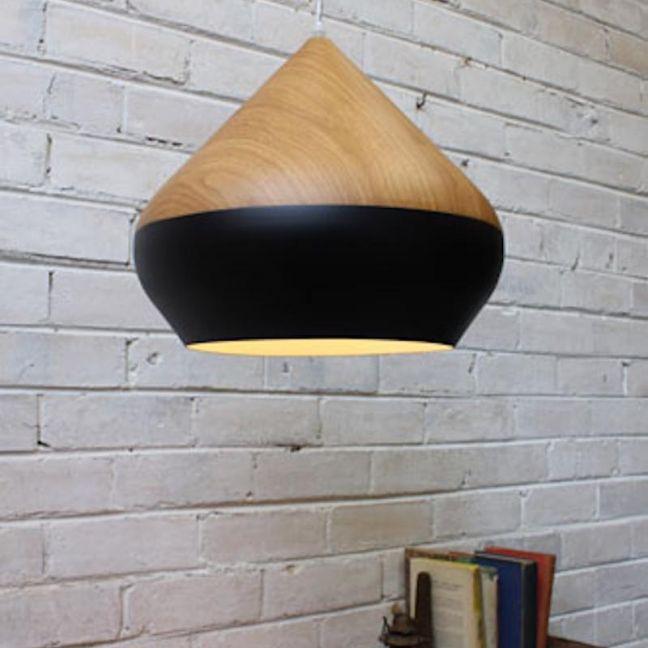 Stockholm Ceiling Light | Oak Wood and Metal