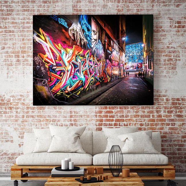 Street Art Laneway I Hosier Lane Xray Art I Limited Edition I Photographic Print Or Canvas
