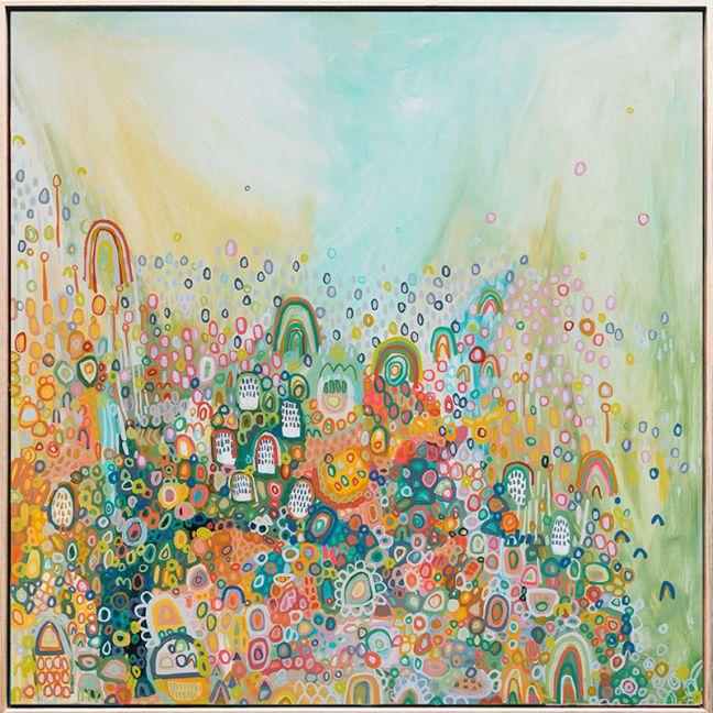 Sun Goes Down | 83cm x 83cm | Framed Canvas Print