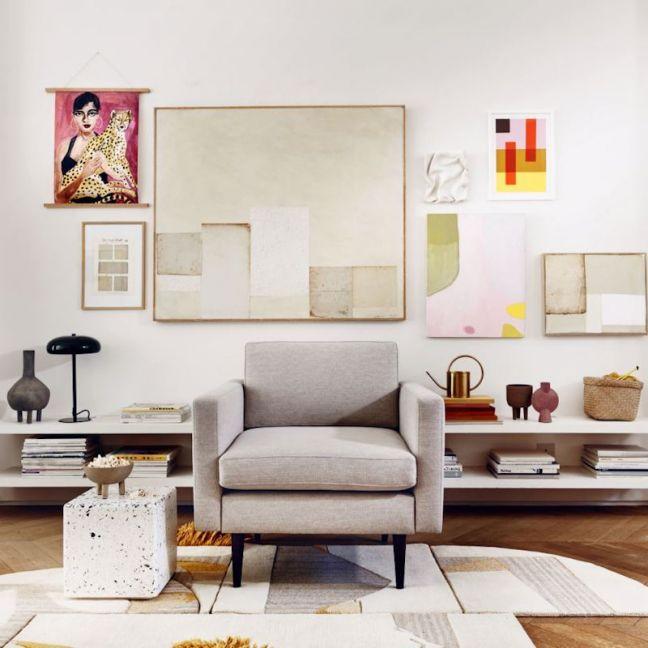 Swyft | Model 01 Linen Armchair | Pumice