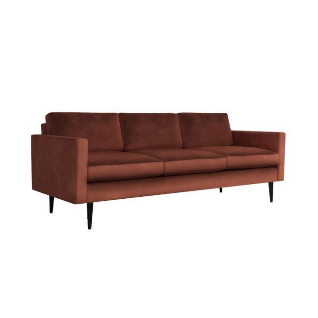 Swyft   Model 01 Velvet 3 Seater Sofa   Brick