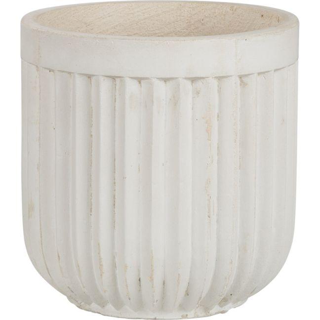Tampa 29x29cm Concrete Planter, Milky White | Schots | PreOrder