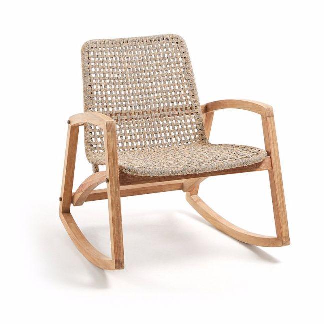 Taniska Rocking Chair Natural Eucalyptus and Rope