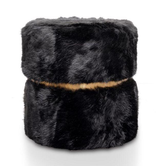 Tara Ottoman | Black Fur | Interior Secrets