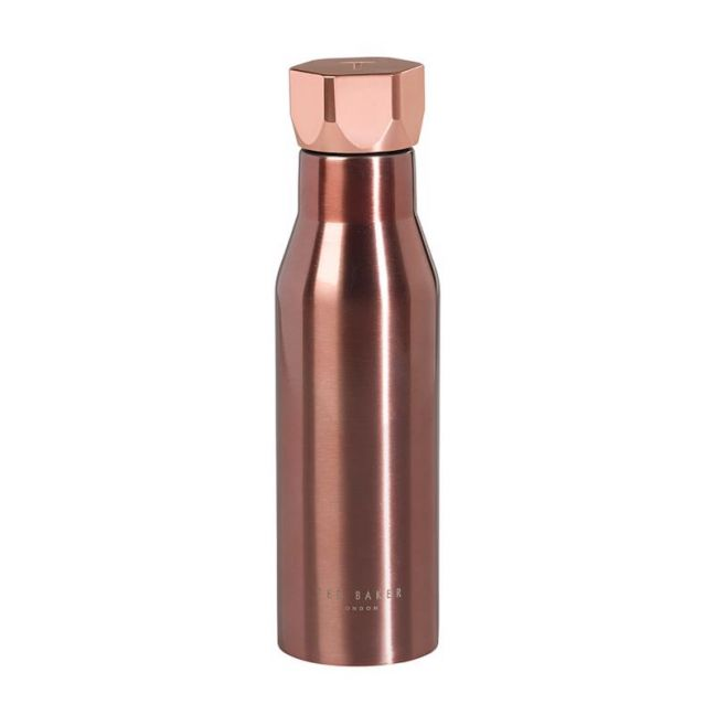 Ted Baker Water Bottle | Rose Gold | CLU Living