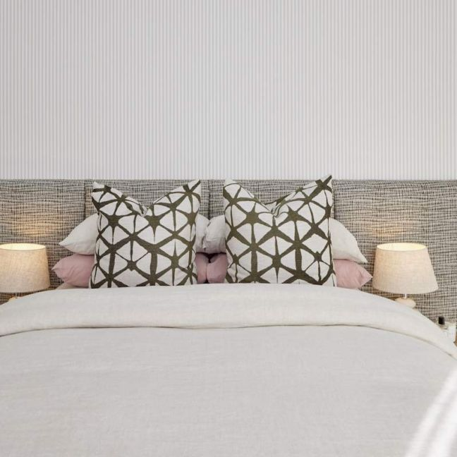 Textured Patterned Wide Panelled Upholstered Bedhead   All Sizes   By Martini Furniture
