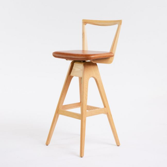TH Brown Danish Stool   Clear Ash   Various Seat Colours