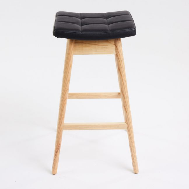 TH Brown Martelle Stool   Clear Ash   Various Seat Colours