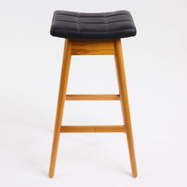 TH Brown Martelle Stool   Light Ash   Various Seat Colours