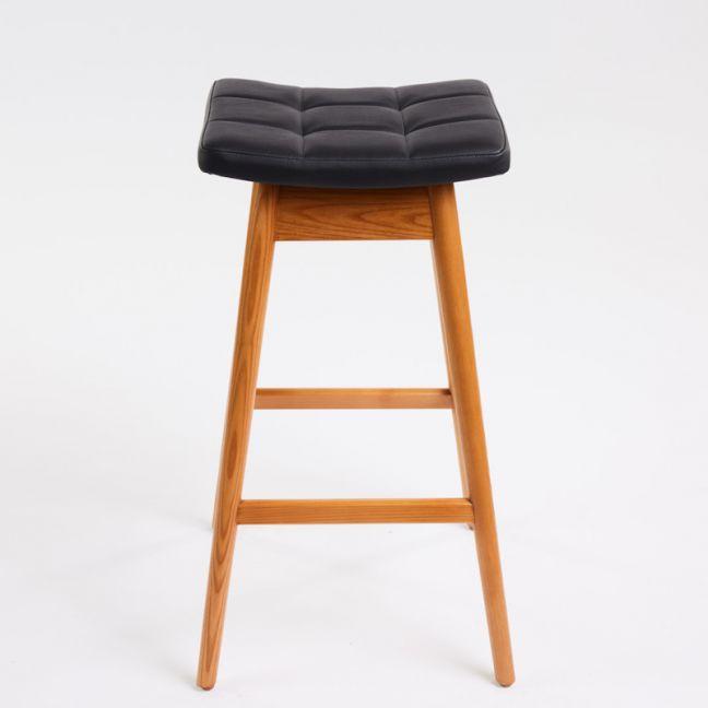 TH Brown Martelle Stool | Teak | Various Seat Colours